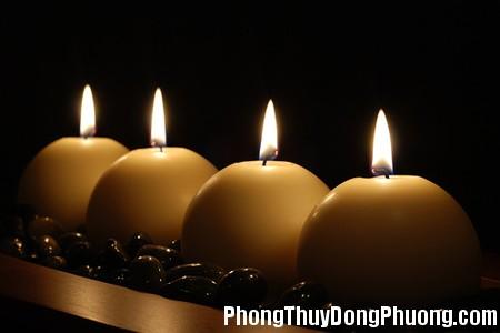 candles Sử dụng nến mang lại hiệu quả trong phong thủy