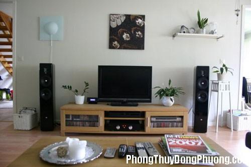 tivi1 Phong thủy cho góc giải trí tại nhà