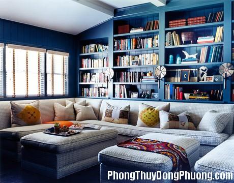 1293862226 can phong mau xanhdenim7 Phong thủy sắp xếp phòng đọc sách tại nhà