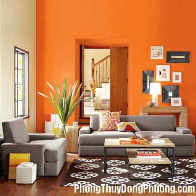 Orange living Room Decor2 Bài trí nhà theo mạng gia chủ
