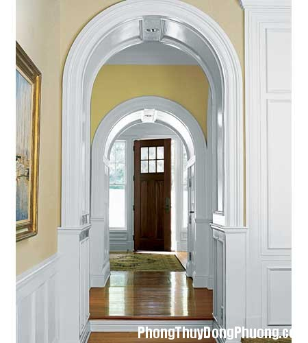 door moldings 01 Bố trí cửa ra vào mang lại vận may và sức khỏe