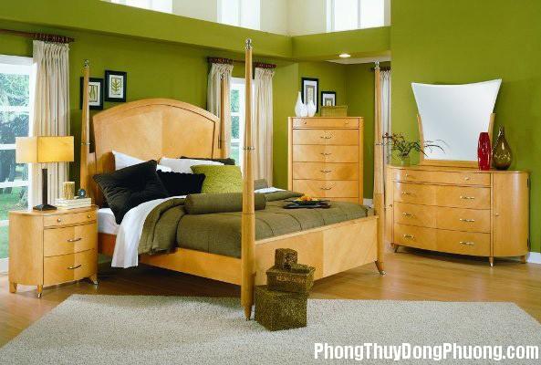 nguyen tac bai tri3 Cách bài trí giường ngủ theo mệnh