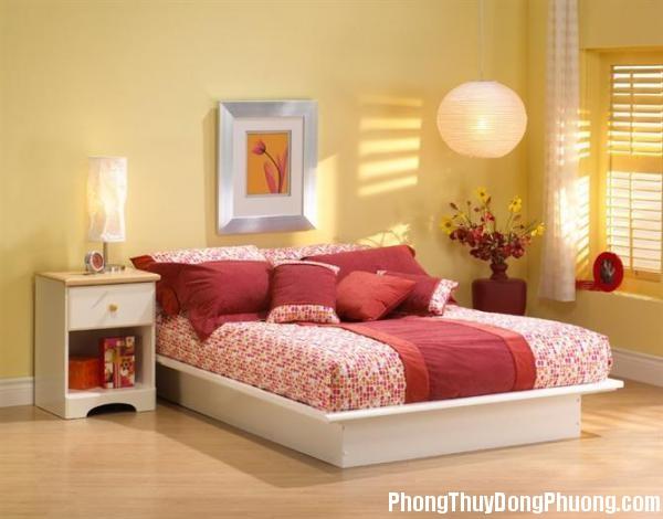 nguyen tac bai tri4 Cách bài trí giường ngủ theo mệnh
