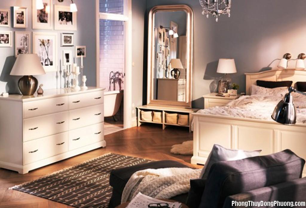 phong thuy ung dung3 Phong thủy trong phòng ngủ
