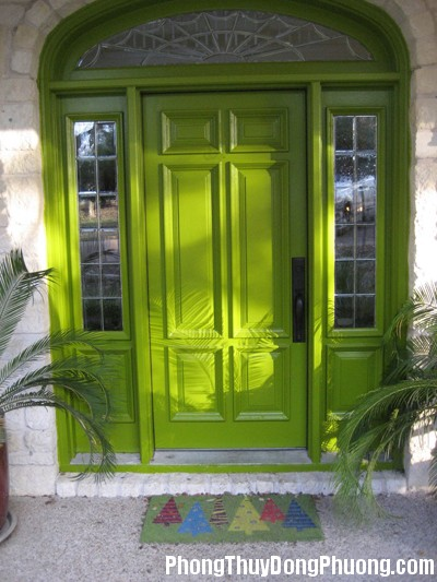 xanhla1 Chọn màu sắc cửa chính theo hướng nhà