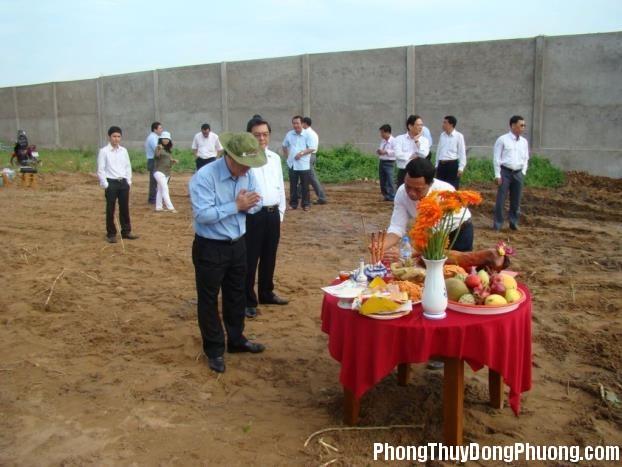 Cúng động thổ Các nghi lễ khi bắt đầu động thổ xây nhà