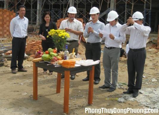 Lễ động thổ Các nghi lễ khi bắt đầu động thổ xây nhà