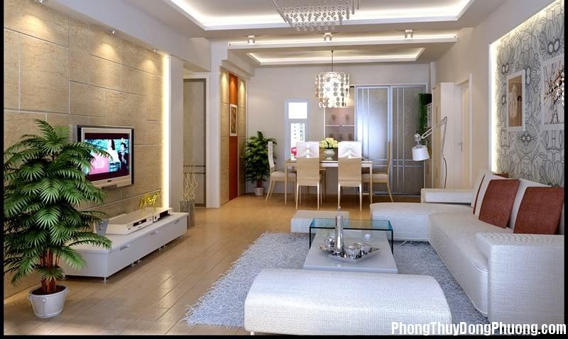 phong khach nguoc2 Phong thủy thiết kế phòng khách