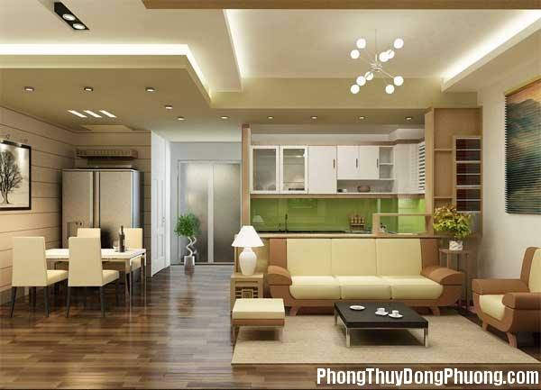 phong khach nguoc5 Phong thủy thiết kế phòng khách