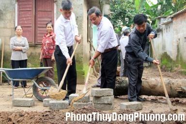 xây dựng nhà cần chú ý theo tuổi gia chủ Các nghi lễ khi bắt đầu động thổ xây nhà