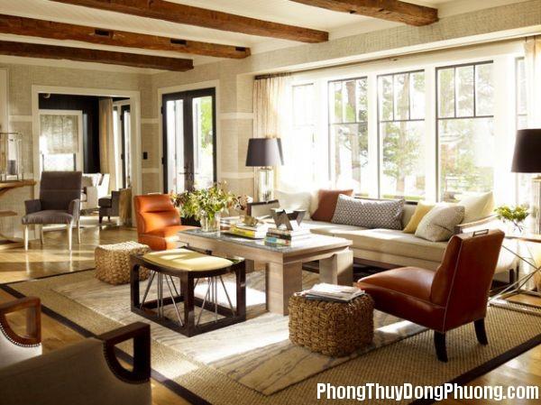 beams living room design Xà ngang chạy qua phòng khách sẽ sinh ra sát khí