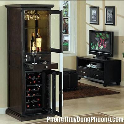 tu ruou1 Phog thủy đặt tủ rượu trong phòng ăn