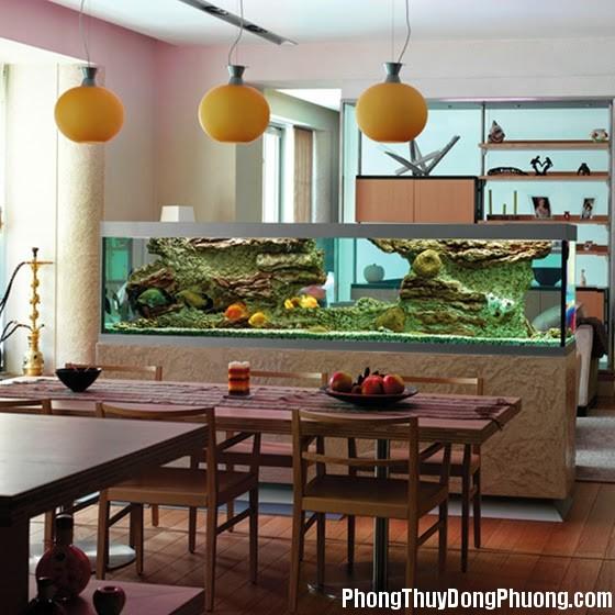 1 Những vị trí đặt bể cá hợp phong thủy