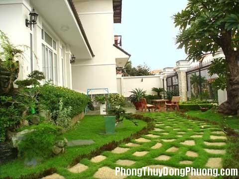 thiết kế sân vườn biệt thự đẹp Phong thủy khu vườn để mang lại vận khí tốt