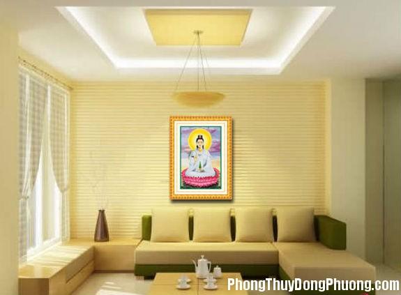 609 Cách treo tranh Phật trong phòng khách hợp phong thủy