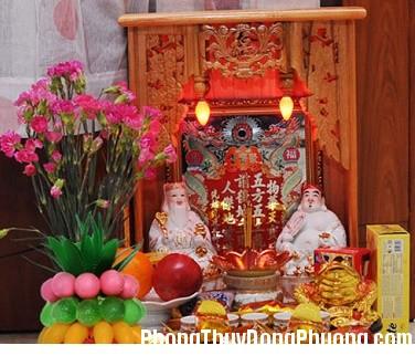 Bo tri ban Than Tai dung chuan hinh anh Cách bố trí bàn thờ Thần Tài mang lại may mắn