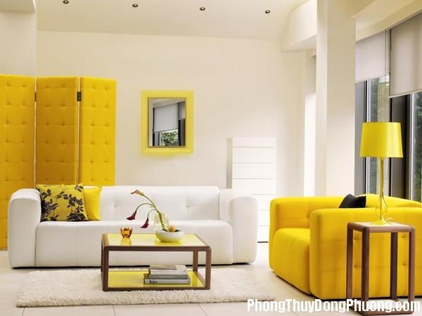 phong thuy phong khach3 7 Nguyên tắc thiết kế màu vàng theo phong thủy
