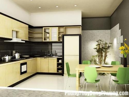 bep 301c Phong thủy trong bài trí nội thất nhà bếp