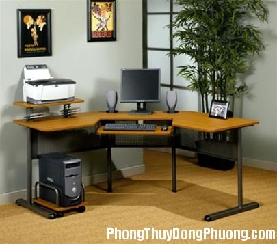 corner computer desk1 Chọn vị trí đặt máy tính hợp phong thủy