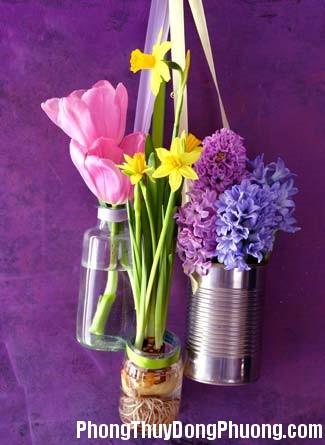 hoa1 Cắm hoa trong nhà hợp phong thủy