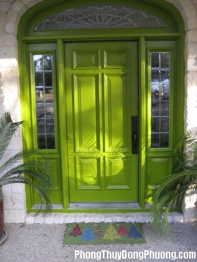 xanhla1 Chọn màu sắc cửa nhà theo phong thủy