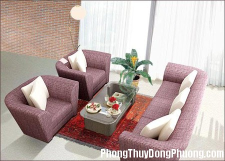 Dat ghe sofa trong phong khach  Cách bố trí ghế sofa phòng khách theo phong thủy