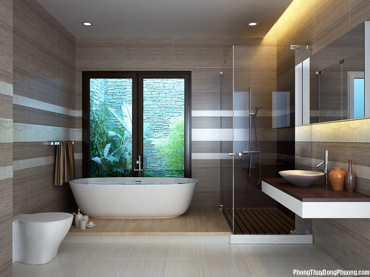 51F hoagiai 1 Cách khắc phục những điểm nghịch phong thủy của phòng tắm