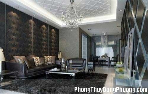 phong khach 1348054162 Cẩn thận khi sử dụng màu đen trong trang trí nội thất nhà