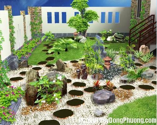 vuon nha theo phong thuy Bố trí vườn nhà theo phong thủy