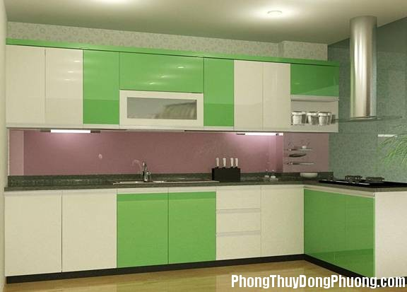 mau son bep Chọn màu sơn phòng bếp đem lại may mắn