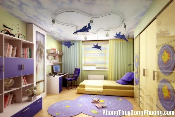 phong thuy cho phong ngu cua tre 255030989 Thiết kế phòng ngủ của trẻ hợp phong thủy
