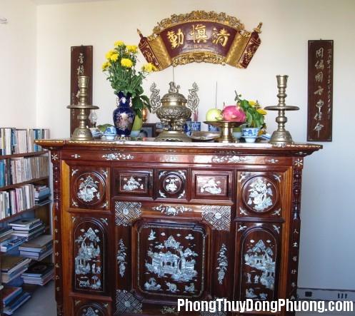 127 bantho Phong thủy bàn thờ trong nhà ở hiện đại