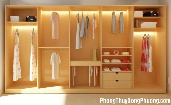 3C4 tuquanao1 Bố trí tủ quần áo hợp phong thủy