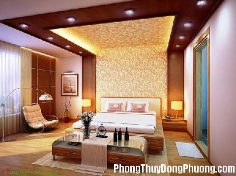 phong thuy tran thach cao han che tac dong tu dam nha Dùng trần thạch cao hóa giải tác động xấu của trần nhà
