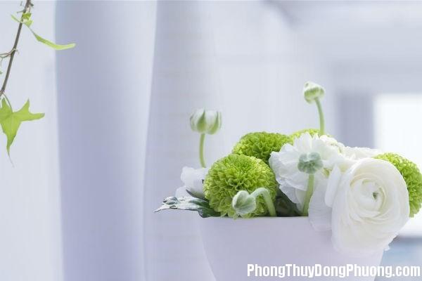 phongthuy d003 Bài trí hoa tươi trong nhà vừa đẹp vừa rước lộc