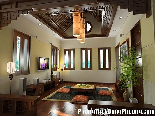 1 1372253799 Nguyên tắc phong thủy khi trang trí trần nhà
