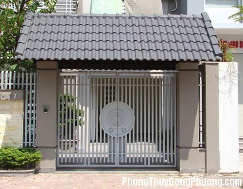 cong nha dep 1 Kích thước cổng phải tương quan với kích thước nhà
