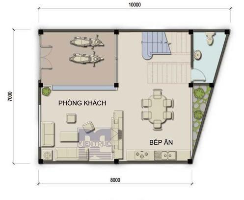 gn c401 Giải pháp phong thủy cho nhà có góc nhọn