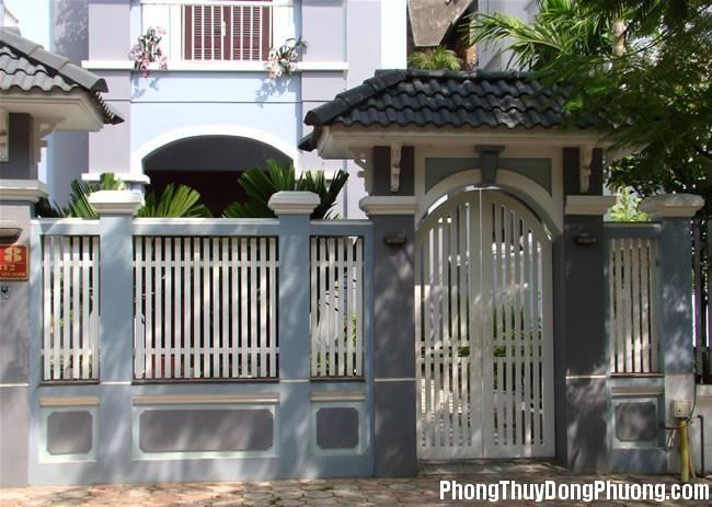 D38 congchinh Cách hóa giải những bất lợi phong thủy do cổng chính gây ra cho nhà ở