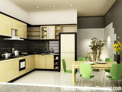 bep 301c Bài trí nội thất phòng bếp rước nguồn tài lộc vào nhà