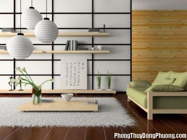 cach trang tri phong khach cua nguoi nhat Bí quyết trang trí phòng khách hợp phong thủy của người Nhật