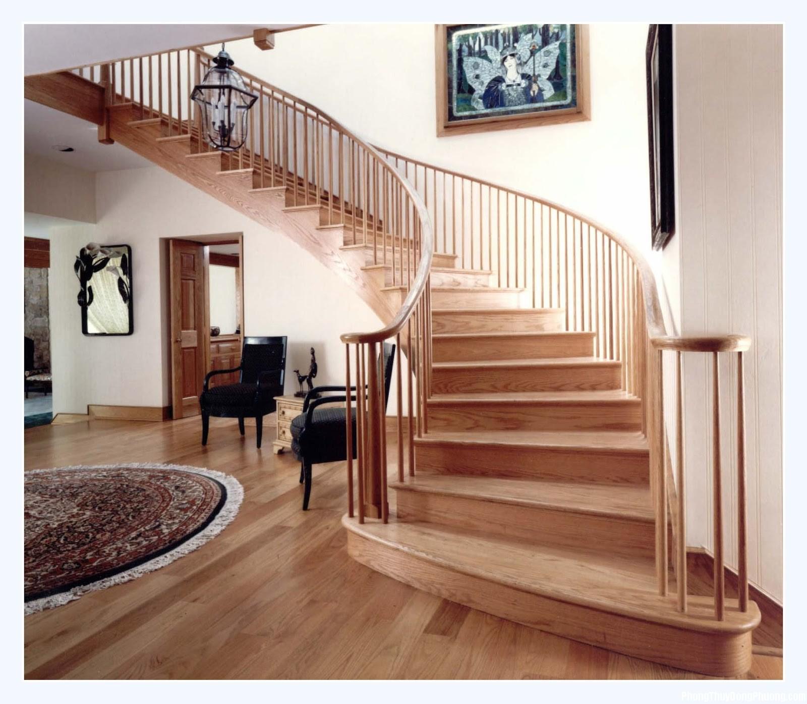 cau thang trong bai tri nha hop phong thuy Thúc đẩy sinh khí trong nhà nhờ thiết kế cầu thang hợp phong thủy