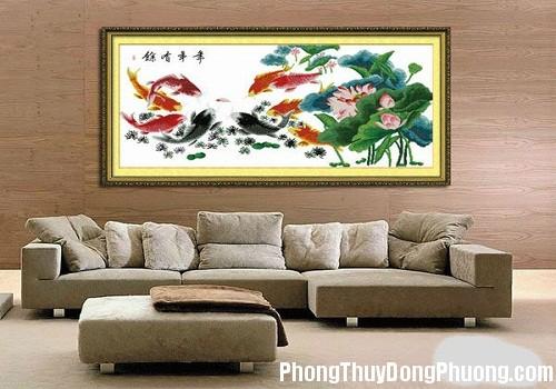 cach treo tranh phong thuy 1120 phunutoday Những vật phẩm cần cân nhắc thật kỹ khi treo trong phòng khách