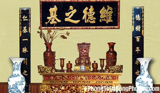 phong tho Bố trí cho góc tâm linh trang trọng của người Việt