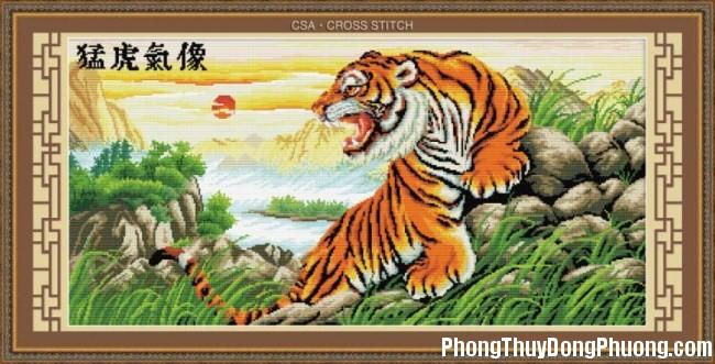 tranh con ho Phong thủy và những điều cần phải biết khi treo tranh con Hổ