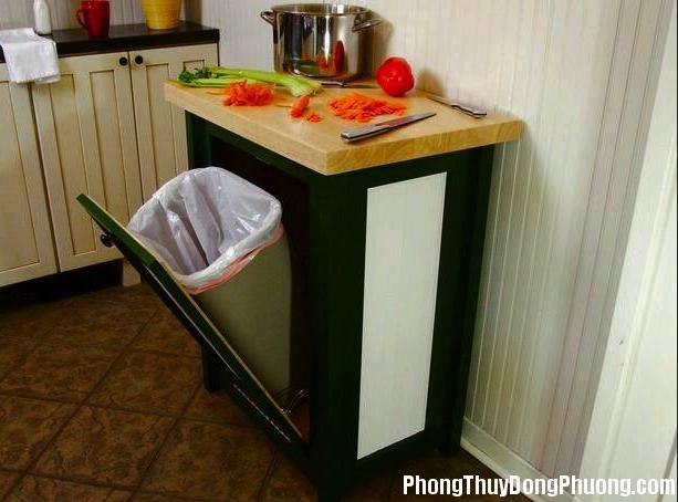 vi tri dat thung rac giup tranh van xau trong nha 2 Vị trí đặt thùng rác giúp tránh các vận xấu trong nhà
