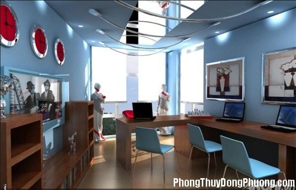 353 Cách phối màu sơn văn phòng theo hướng hợp phong thủy
