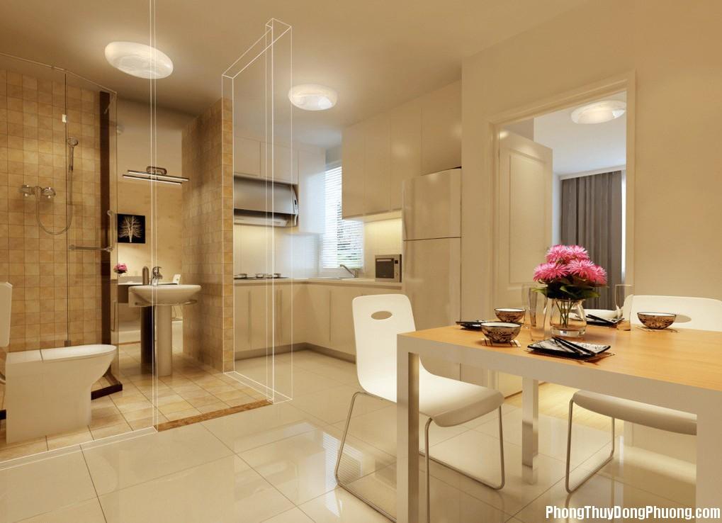 Interior design perspective of dining room kitchen and toilet ac467 Bài trí bếp hợp phong thủy sẽ đem lại hòa khí cho gia đình