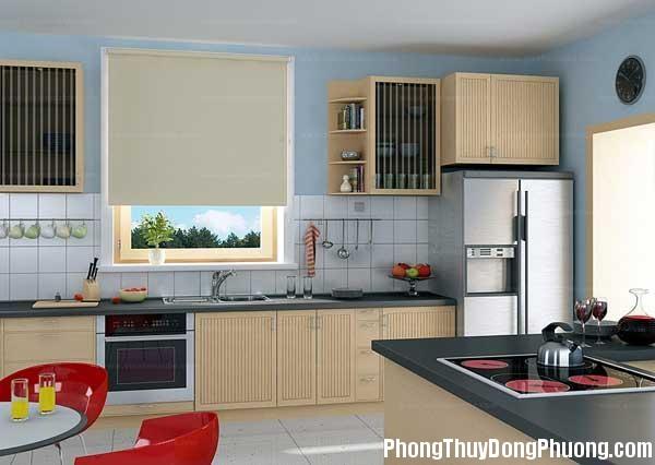 bep dep phong thuy Cách sắp xếp các yếu tố đối lập trong phong thủy phòng bếp