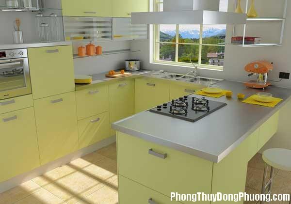bep dep phong thuy1 Cách sắp xếp các yếu tố đối lập trong phong thủy phòng bếp